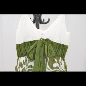 Green and white floral dress by Max Studio